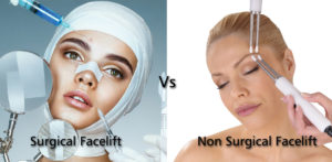 Comparison between Surgical and Non-Surgical Facelift